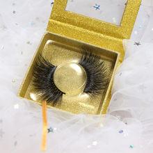 Wholesale eye lash custom packaging box 100% hande made eyelashes 25mm length 3d mink eyelash