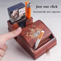Automatic cigarette case natural rosewood wooden cigarette machine manual automatic smoking set special creative handicrafts