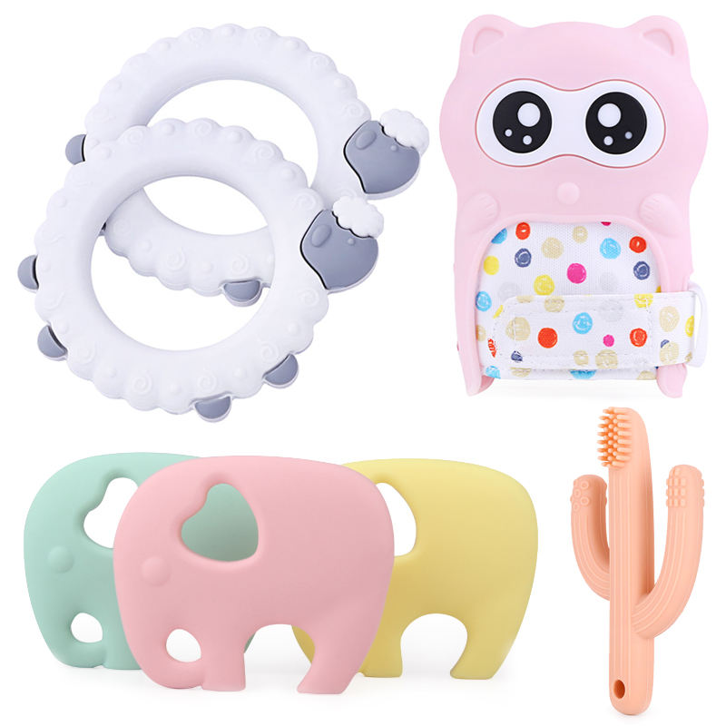 Hot Selling Eco-friendly Non-toxic BPA Free Silicone Baby Teether Toys