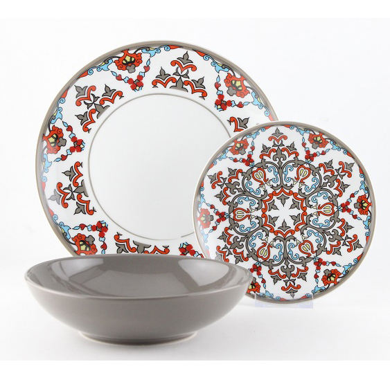 To middle east market cheap 18pcs dinner set on hot sale
