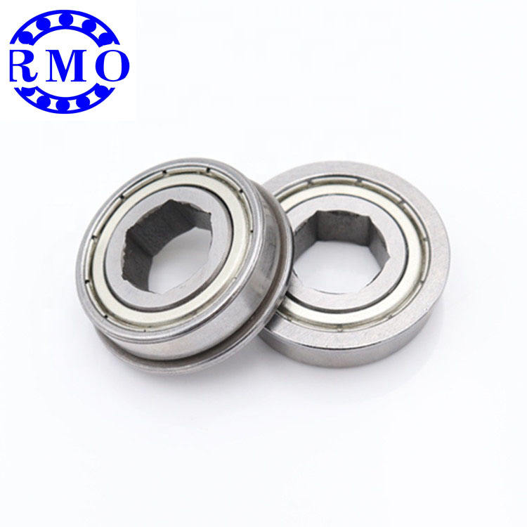 1/2 inch bore ball bearings hexagon fr8zz hex bearing hex bore bearing for FRC robotics championship