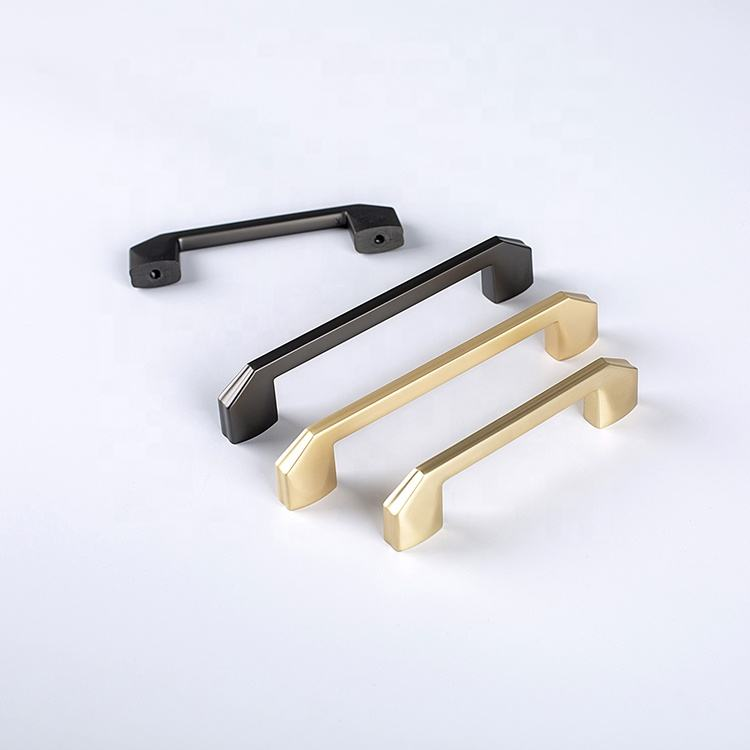 Hardware Furniture Kitchen Cabinet Wardrobe Pulls Handle Brushed Good Quality Black Customised handles for furniture
