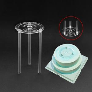 Make multi-layer cake gasket straw support shelf ps transparent cake stand baking tools