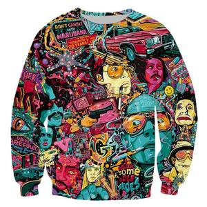 1 Piece Drop Shipping All Over Print Sweatshirt All Over Sublimation Sweatshirt Anime