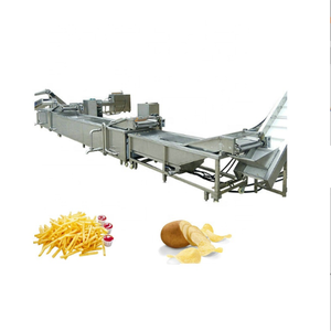 Automatic Complete Frozen French Fries Potato Chips Fry Production Processing Line