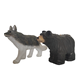 Promotion Art Craft Home Decoration Antique Woodcraft Wood animal carving wooden Bear Wolf