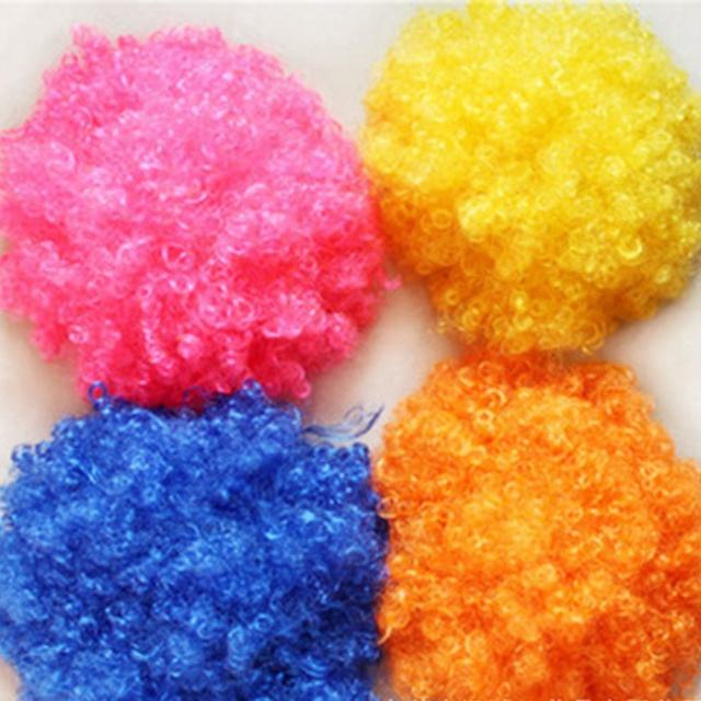 Manufacturers Hot Sell Halloween Party Supplies Colorful Hair Wigs Fans Wear Clown Wigs