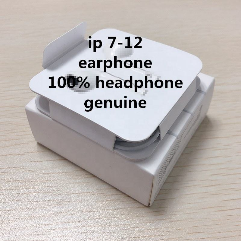 Earphone for iphone 12 11 Pro Max 7 8 Original 100% Earbuds Wired control Headset Remote Earphone Mic for apple Stereo Headphone