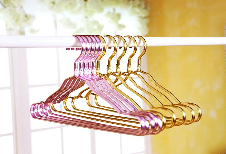 Aluminium Alloy Clothes Coat Hanger Durable Metal Anti-slip Dress Clothing Towel Hanger Space Saving Wardrobe Storage Rack