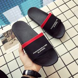 FZNYL Black Summer Beach Slides Men Comfortable Non-slip Out