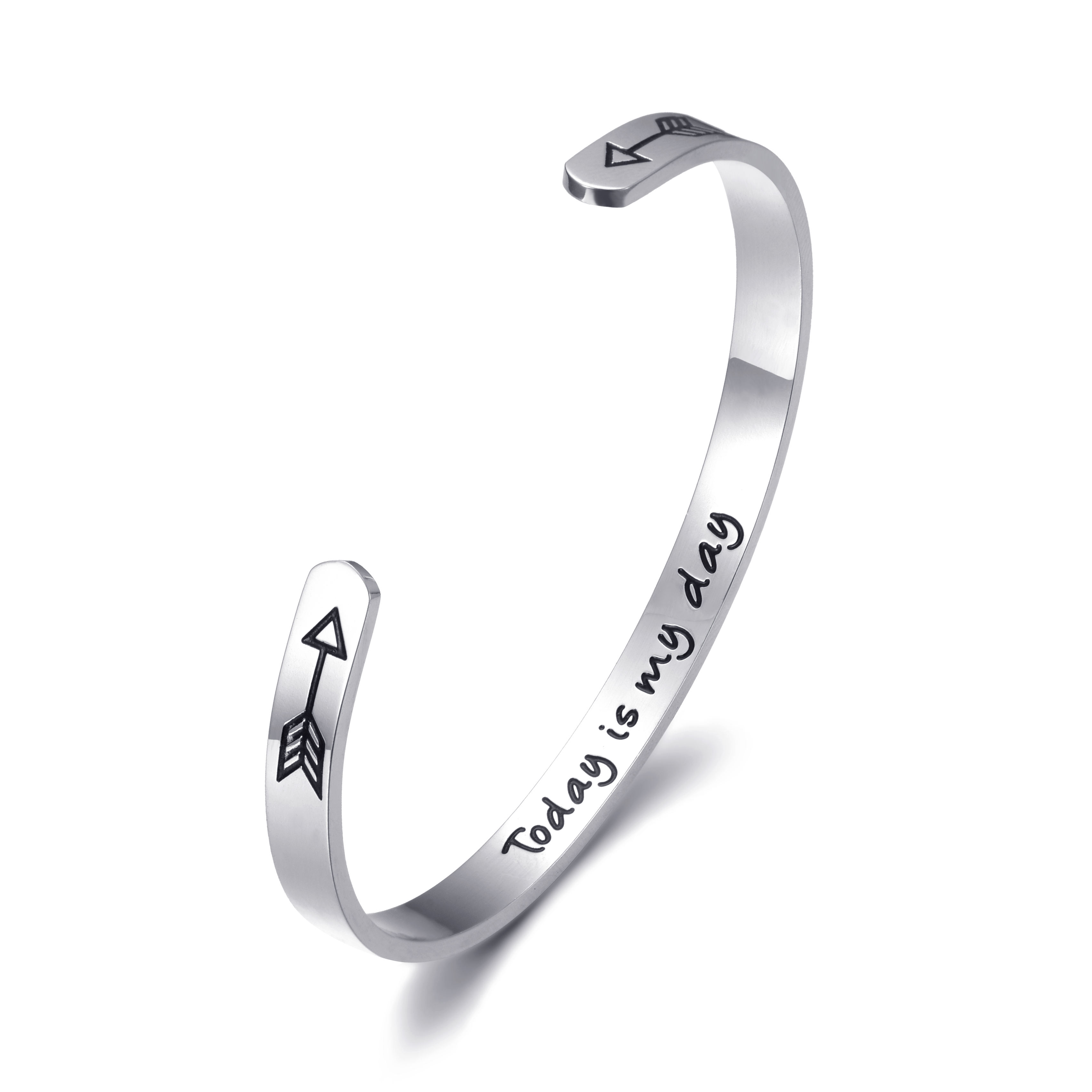 Ruigang Best Friends Bracelet Stainless Steel Jewelry Cuff Bangles Bracelets Friendship Mother's Day Gifts