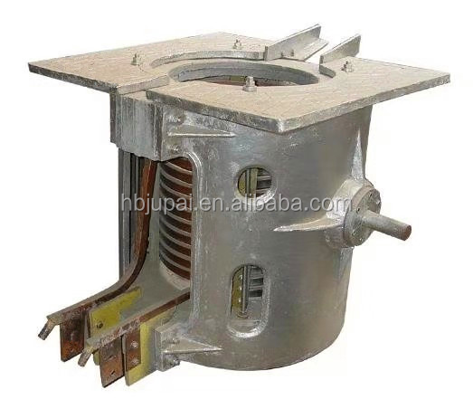 Hot sale used 1ton induction melting frequency furnace of aluminum shell for melting aluminum