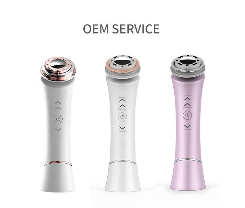 Beauty salon products Microcurrent Facial Skin Care Machine Ultrasonic Face Pore remover Facial Cleansing beauty device