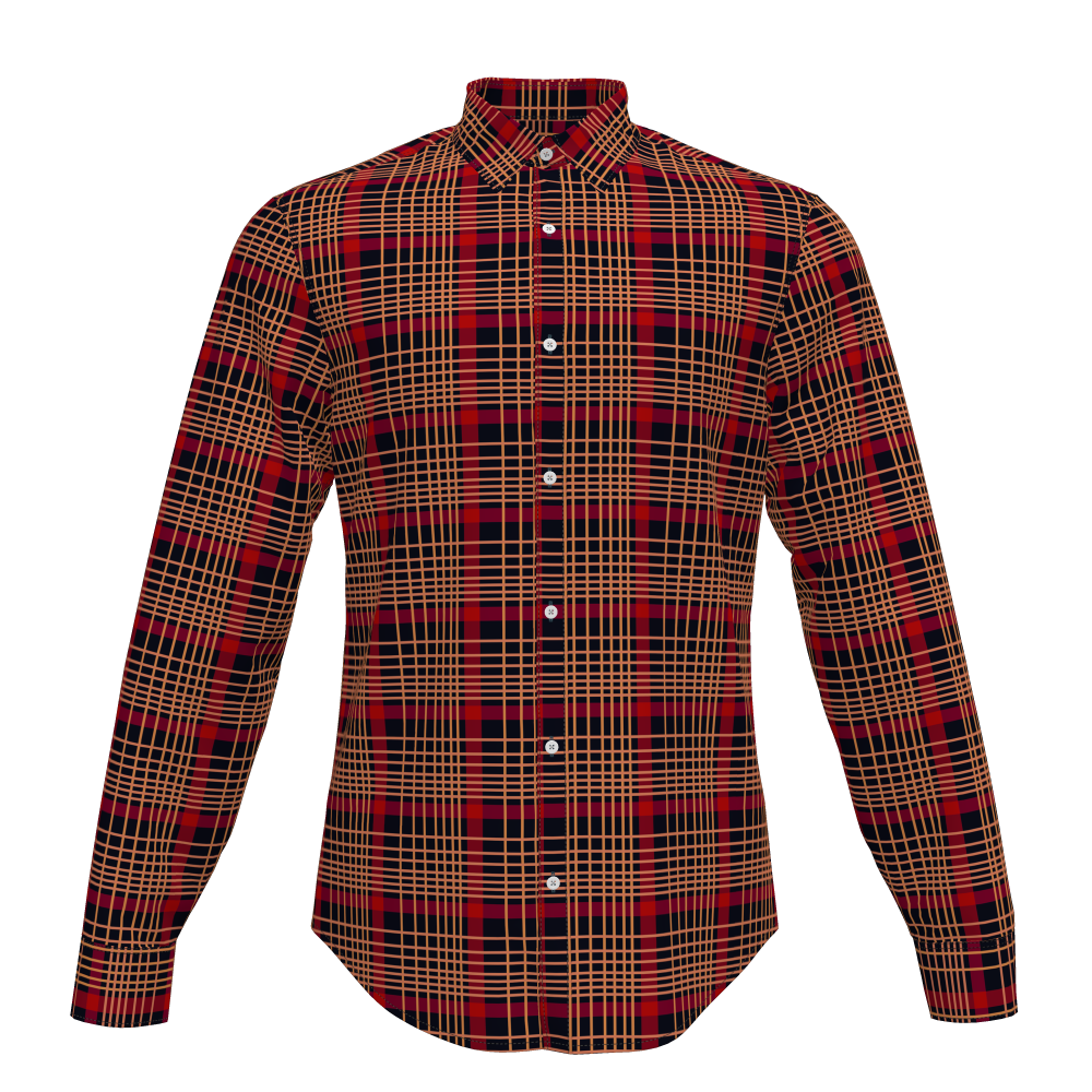 Comfortable Casual Long Sleeve Cotton Grey Green Plaid Shirt For Men