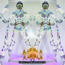 GOGO Laser Space Star Costume Men's Dance Costumes Cool future technology show nightclub bar model catwalk clothing