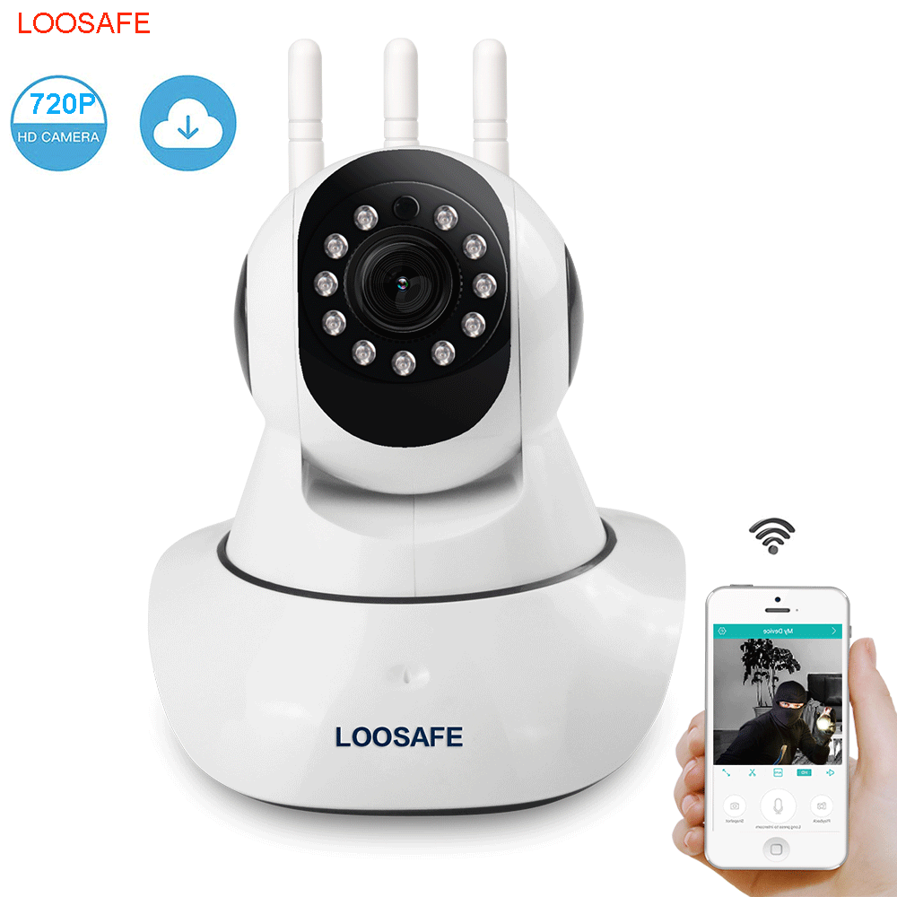Loosafe Wireless 720P indoor IP Camera WiFi cctv system Home Security Camera for Baby Monitor PTZ Two-Way Voice Camera