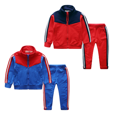 High quality custom kids tracksuits / sport track suits wholesale children tracksuits