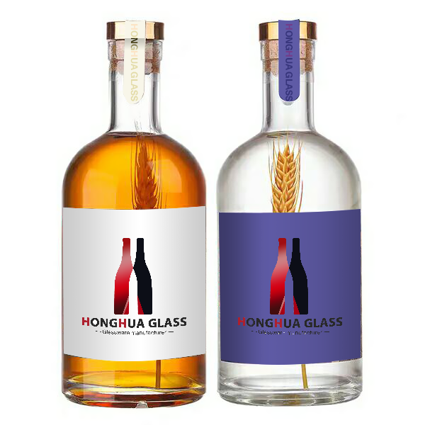 SGS certificated Different Sizes Custom Empty Packing Glass Vodka Bottle