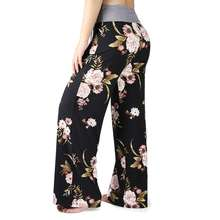 Custom Wholesale Women Loose Sleepwear Pajama Pants Soft Cotton Asymmetric Trousers Wide Leg Pants