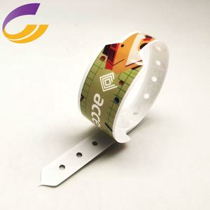 disposable plastic different numbers ID Wristband /bracelets/promotional wrist band