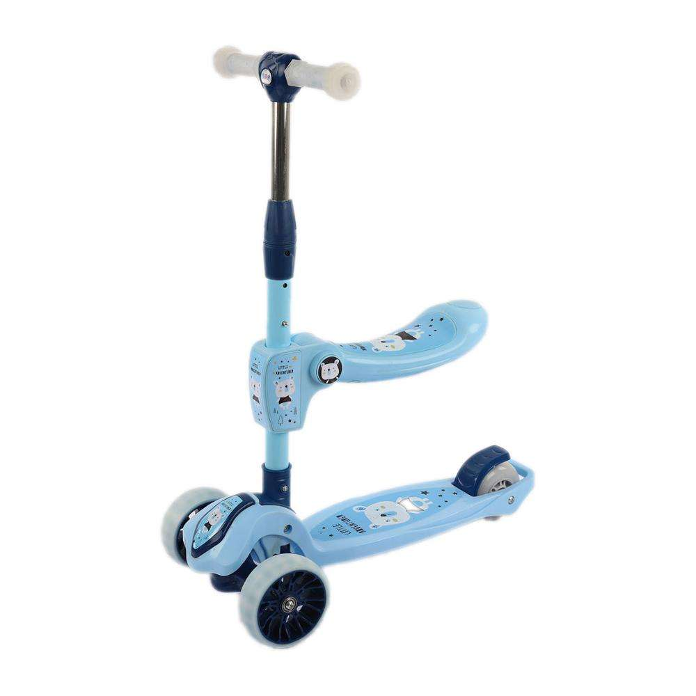 wholesale customized logo mini colorful outdoor standing 300mm big rubber 3 wheel kick kids scooter