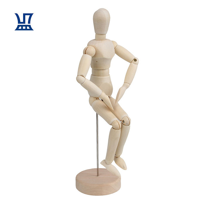 BQLZR 5.5 Inch Artists Wooden Manikin Mannequin Moveable Adjustable Limbs Human