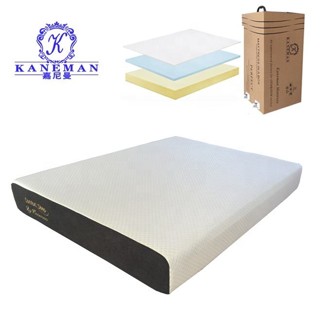 Wholesale Visco Elastic gel memory foam royal mattress with rolling in a box
