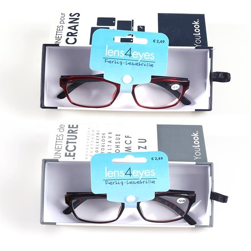 Hot Sale Cheap Promotion Fashion Unisex with cases Reading Glasses