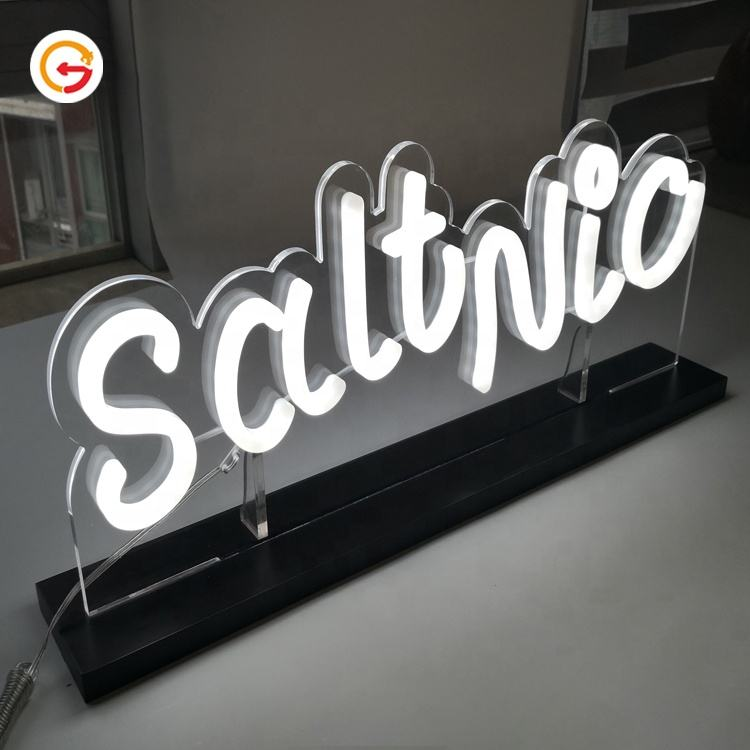 JAGUARSIGN Manufacturer Custom Stand Acrylic Neon Signs Lighted Table Dcoration Small Neon Signs for Bar Restaurant