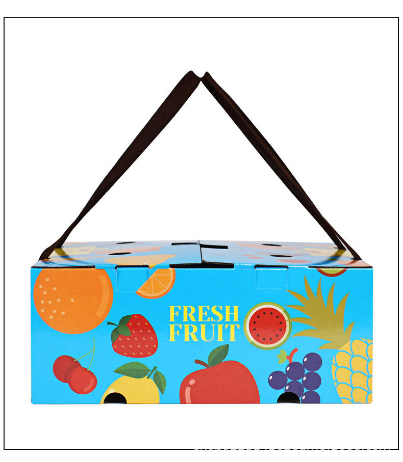 Rigid Corrugated Custom Printing Die Cut Fresh Vegetable Mango Banana Fruit Packaging Carton Shipping Box