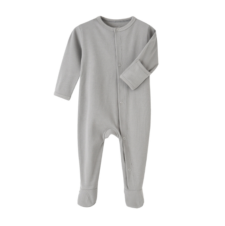 Ribbed baby pajamas baby boys cute printing jumpsuit babi clothes infant rompers