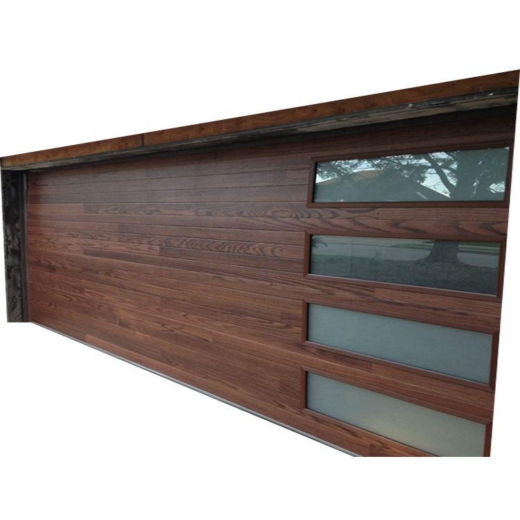 Modern And Classical Wood Automatic Glass Panel Garage Door Price For Sale