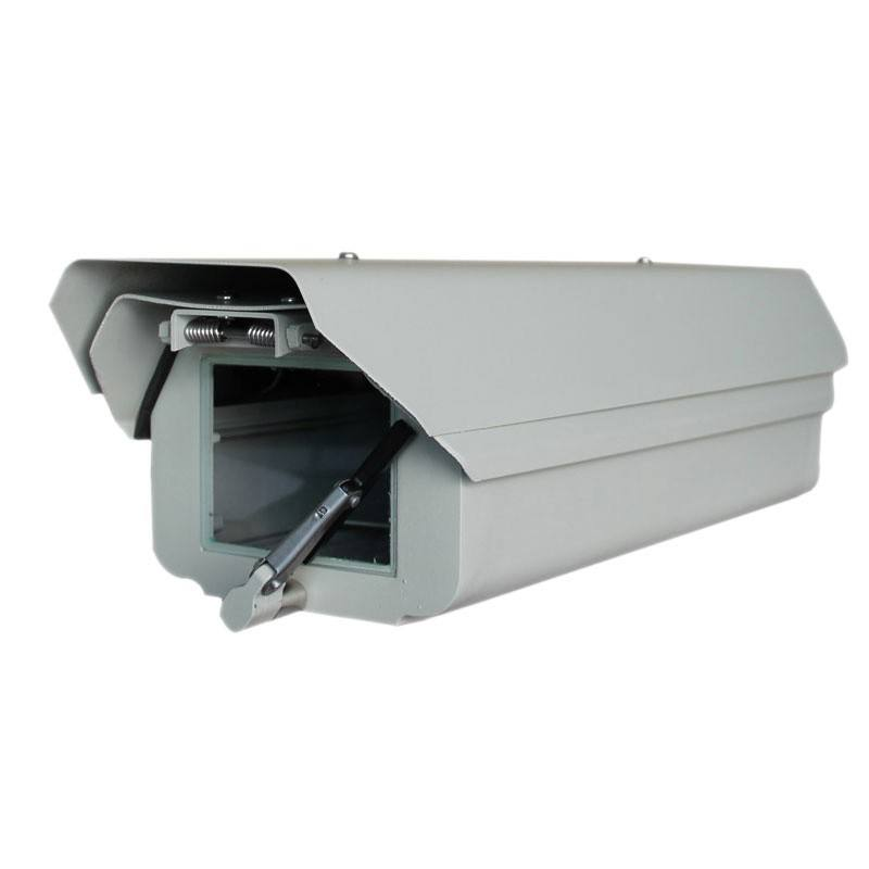 all-weather indoor/outdoor IP66 cctv camera enclosure with heater Fan Wiper sun-shield