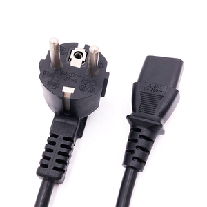 250v VDE standard european 3 pin schuko plug computer ac power cord cable with iec c13 connector