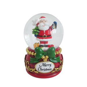 High quality & best price large 100mm Christmas water transparent crystal ball snow globe kit