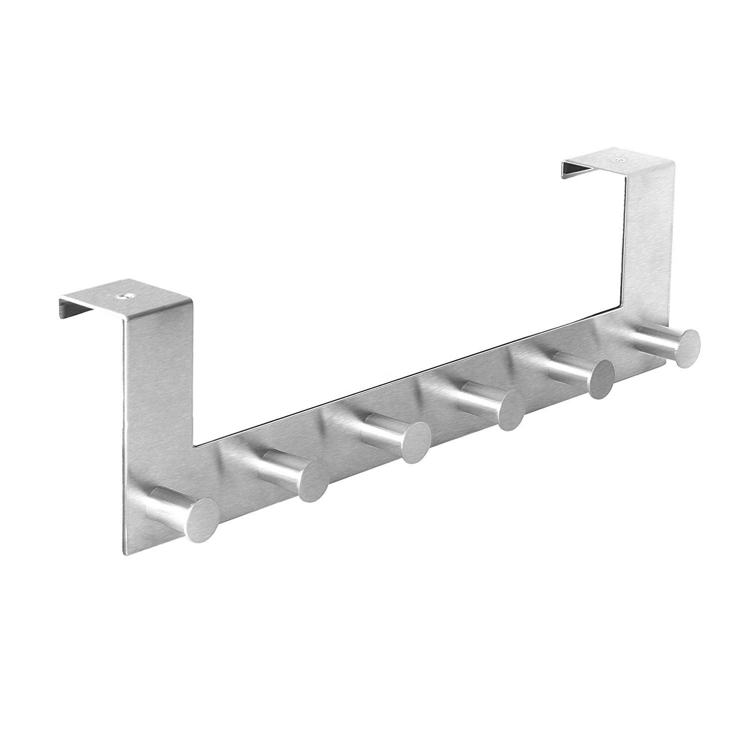 Factory Stainless Steel Door Hook Towel Rack Kitchen Cabinet Cupboard Hanging Rack Hat Clothes Coat Cloth Over The Door Hook