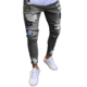 BH02 Hot selling fashion distressed trousers stretch denim skinny man branded pantalones custom ripped jeans men from China