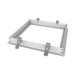 White Powder Coated Finish Aluminum 595X595mm Led Ceiling Panel Light Recessed Mounting Kit