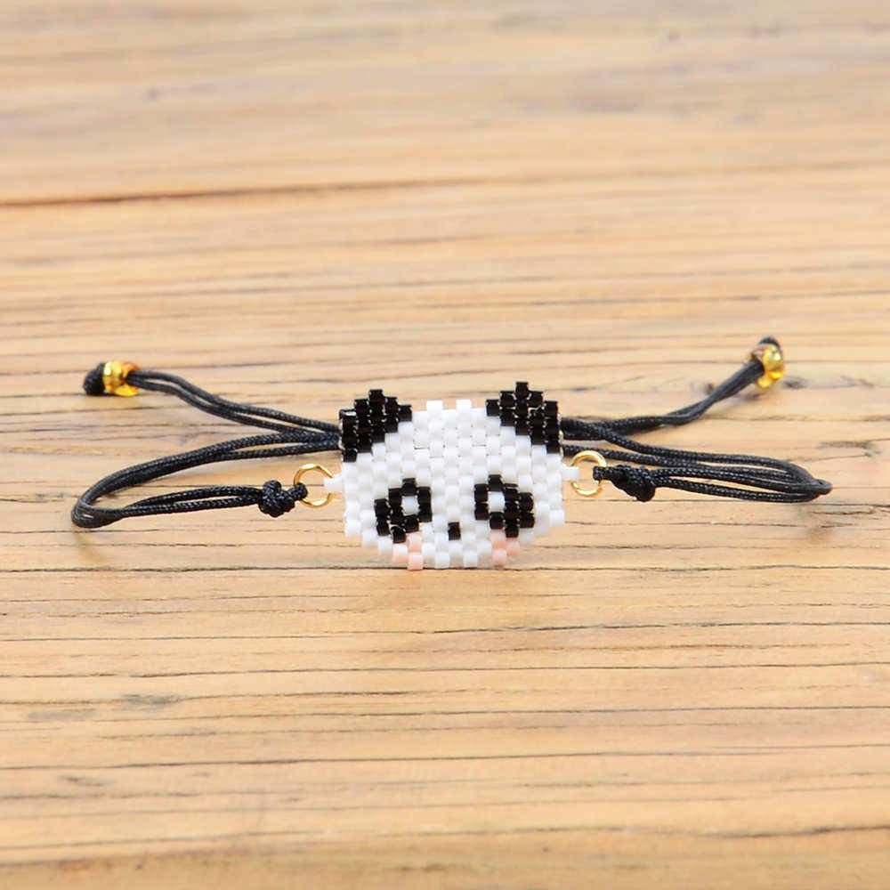 Perles Bracelet kungfu Panda Bracelets Women Pulseras Mujer Child Girl Gift Animal Simple Jewelry Handwoven