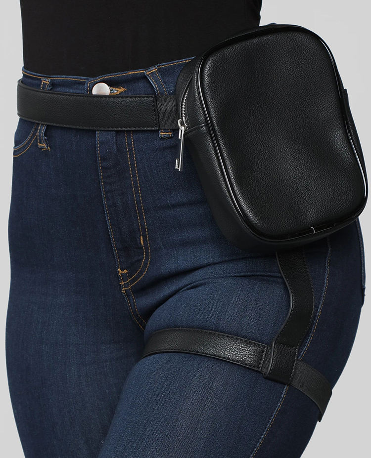 New INS Hot Trendy Stylish Women Waist Leg Bag Leg Belt Leather Bag Cool Girl Bag For Outdoor Hiking Motorcycle