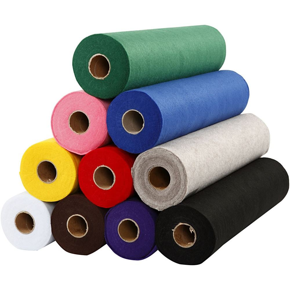 Hard felt craft sheets / stiff non woven color felt fabric