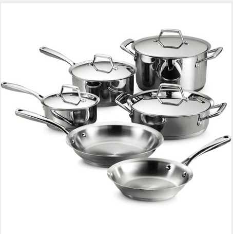 Tri-Ply Clad Stainless 10-piece Japanese cookware (JL-070237)
