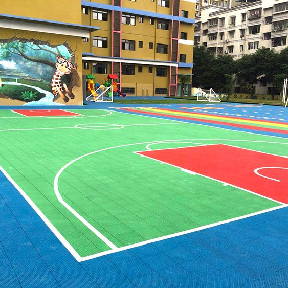 Basketball Court Flooring PP Interlocking Outdoor Floor Plastic Sport Tennis Basketball Badminton Court Flooring Mat