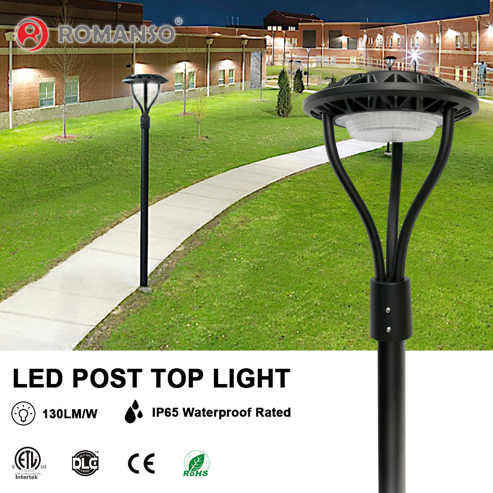 IP65 waterproof LED Post Top Light for garden outdoor application with aluminum 60w 100w 150w post top light fixtures