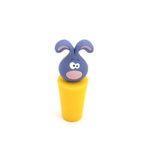 Food grade silicone wine bottle stopper with funny customized design