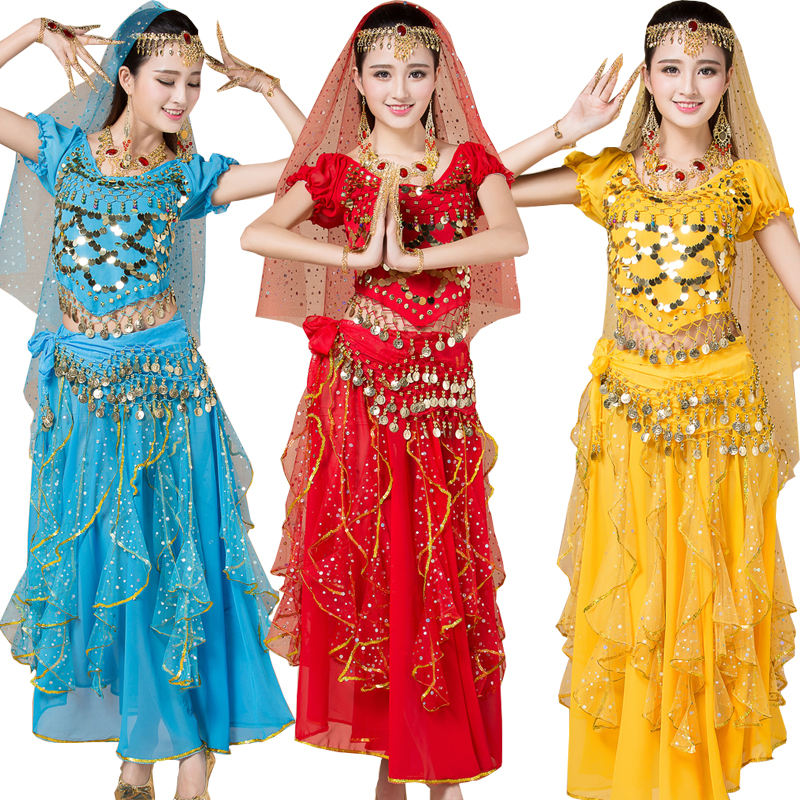 Belly dance costume sets Handmade sexy 6 colors for five piece sets