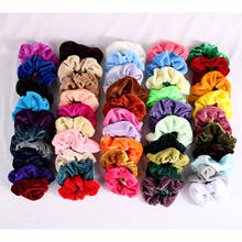 scrunchies 50pcs velvet for Women Hair Colorful Elastic Hair Scrunchies Ponytail Holder 40 50 pack Scrunchies