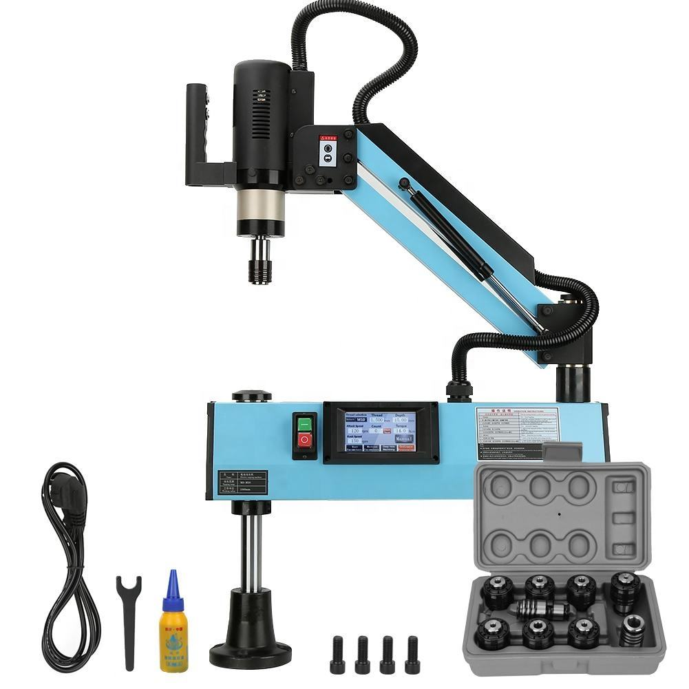 M3-M12 flexible arm touch screen Electric tapping machine with CE certificate for screw tapping
