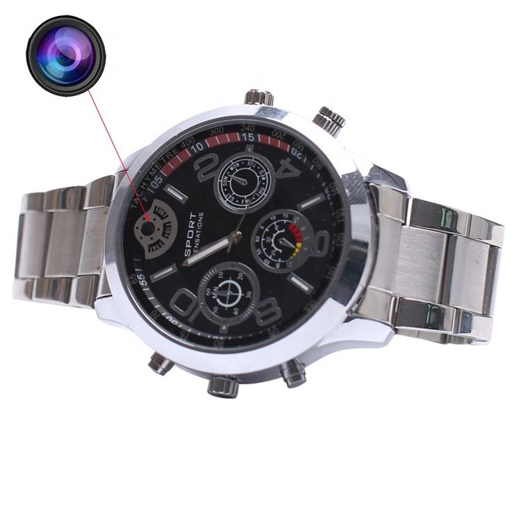 HD Spy Watch Camera 2K 1296P Ondersteuning card 128gb verborgen draadloze cam in horloge pinhole camera hd mini verborgen camera horloge