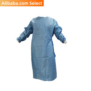 Alibaba Select Medical disposable AAMI PB70 level 4 Poly reinforced surgical gown for US market  bulk non-sterile 40pcs/carton